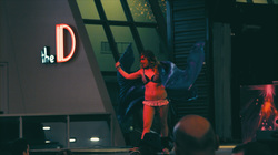 Dancer Under Red Lights